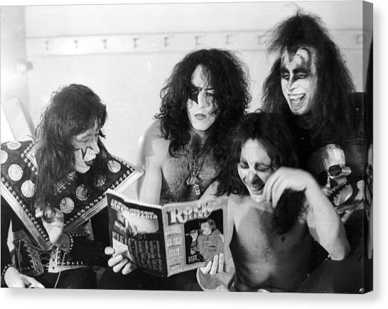 Kiss Backstage Canvas Print by Michael Ochs Archives
