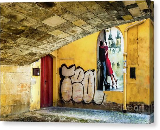 Kissing Under The Bridge Canvas Print