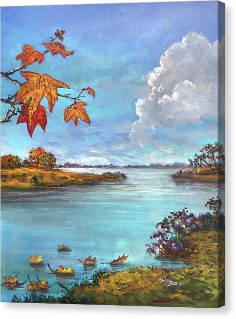 Kites, Clouds And Sailboats Canvas Print