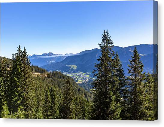 Canvas Print featuring the photograph Kleinwalsertal, Austria by Andreas Levi