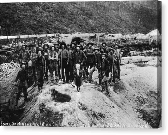 Klondike Miners Canvas Print by Hulton Archive