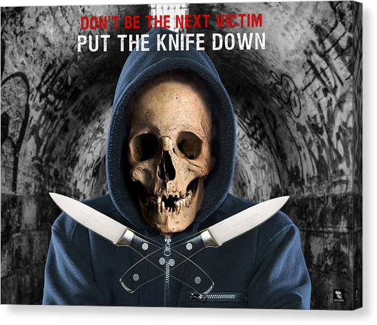 Canvas Print featuring the digital art Knife Crime Part 2 - The Next Victim by ISAW Company