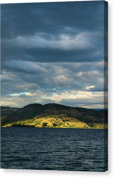 Knox Mountain At Sunset Canvas Print