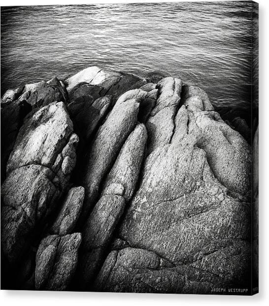 Ko Samet Rocks In Black Canvas Print