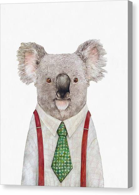 Whimsical Canvas Print - Koala by Animal Crew