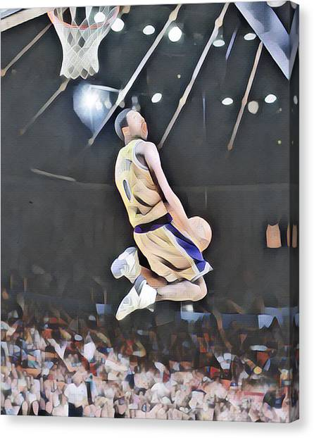 Kobe Bryant Canvas Print - Kobe Bryant 8 Los Angeles Lakers Abstract Art 2 by Joe Hamilton