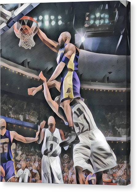 Kobe Bryant Canvas Print - Kobe Bryant 8 Los Angeles Lakers Abstract Art 3 by Joe Hamilton