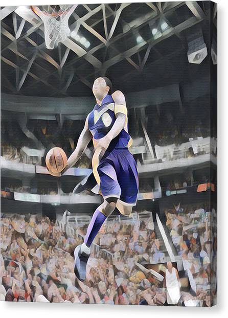 Kobe Bryant Canvas Print - Kobe Bryant 8 Los Angeles Lakers Abstract Art 4 by Joe Hamilton