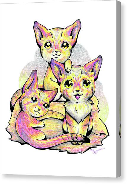 Kolorful Kitties Canvas Print