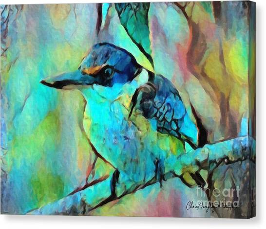 Kookaburra Blues Canvas Print