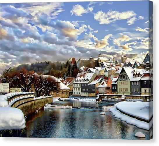 Kronach Winter Scene Canvas Print