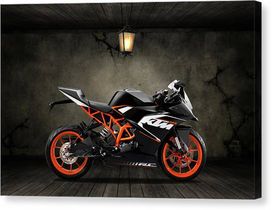 Duke University Canvas Print - Ktm Duke 125 Old Room by Smart Aviation