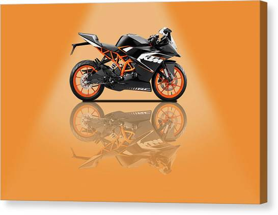Duke University Canvas Print - Ktm Duke 125 Orange Spotlight by Smart Aviation