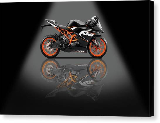 Duke University Canvas Print - Ktm Duke 125 Spotlight by Smart Aviation