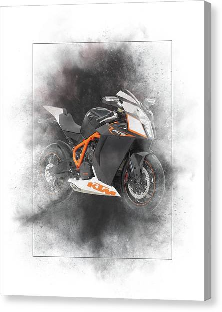 Acc Canvas Print - Ktm Duke 200 Painting by Smart Aviation