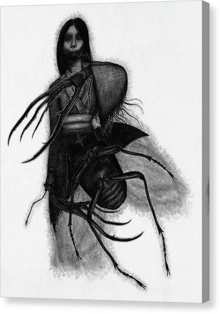 Kuchisake-onna The Slit Mouthed Woman Ghost - Artwork Canvas Print