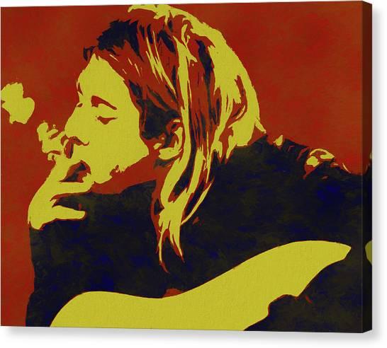 Andy Bloom Canvas Print - Kurt Cobain Pop Art by Dan Sproul