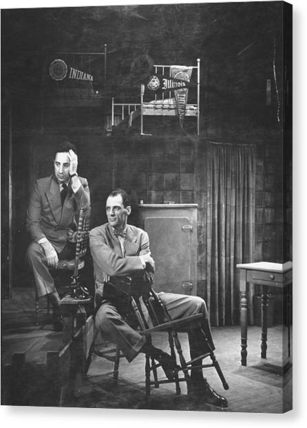 L-r Director Elia Kazan And Playwright Canvas Print by W. Eugene Smith