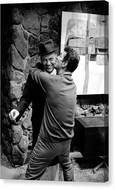 L-r Entertainer Frank Sinatra Getting Canvas Print by John Dominis