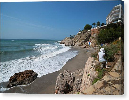 La Caletilla Beach Canvas Print