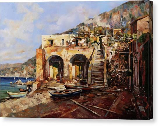 Sailors Canvas Print - La Casa Dei Veneziani by Guido Borelli