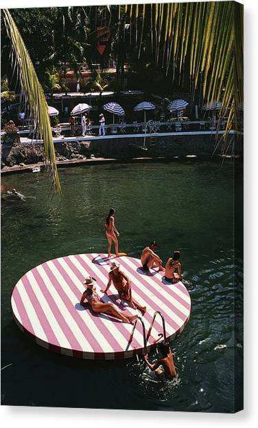 La Concha Beach Club Canvas Print by Slim Aarons