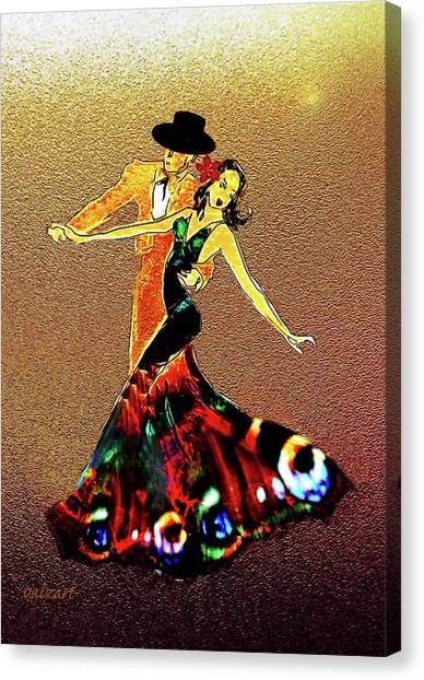 Canvas Print featuring the painting La Fiesta by Valerie Anne Kelly