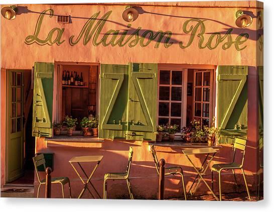 Parisian Canvas Print - La Maison Rose by Andrew Soundarajan