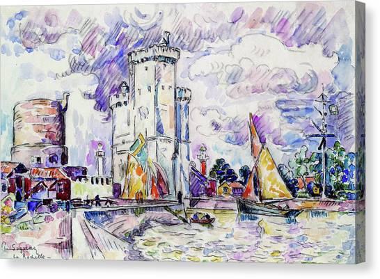 Signac Canvas Print - The Rochelle - Digital Remastered Edition by Paul Signac