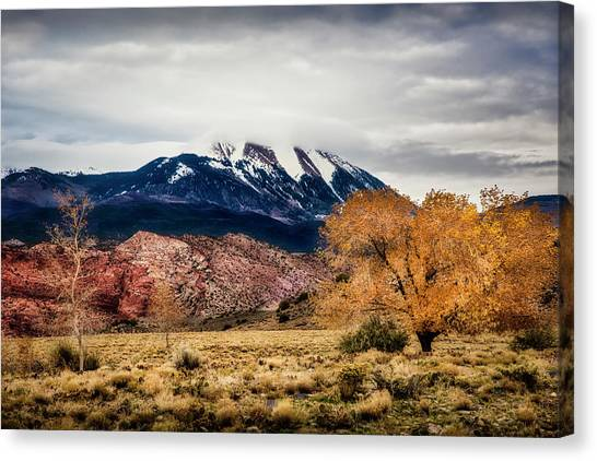 Canvas Print featuring the photograph La Sal Mountain Range by David Morefield