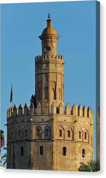La Torre De Oro Detail. Seville Canvas Print