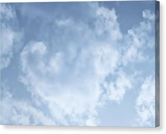 Canvas Print featuring the photograph Lace Agate Sky by Judy Kennedy
