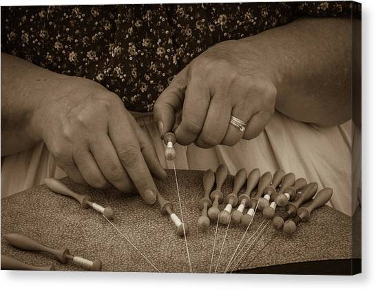 Canvas Print featuring the photograph Lacemaker 1364 by Guy Whiteley