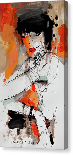 Fineart Canvas Print - Lady2 by Viktor Sheleg