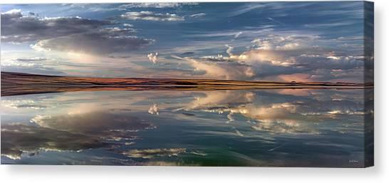 Lake Abert 4 Canvas Print by Leland D Howard