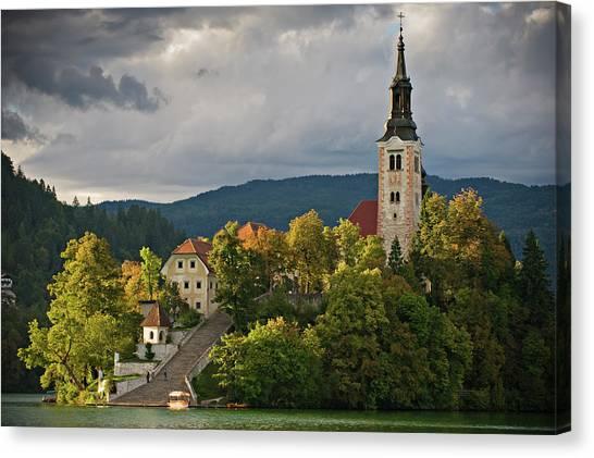 Ljubljana Canvas Print - Lake And Island Of The by Yvan Travert