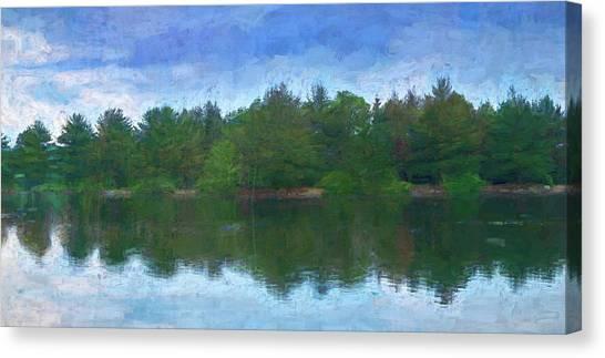 Lake And Trees Canvas Print