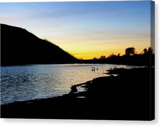 Lake Cuyamaca Sunset Canvas Print