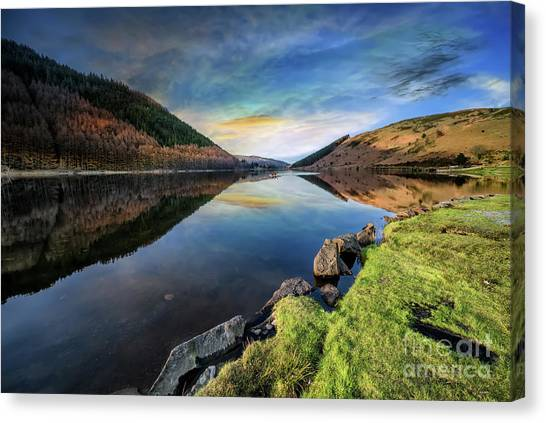 Canvas Print - Lake Geirionydd Sunset by Adrian Evans