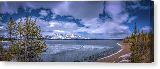 Lake Jackson Wyoming Canvas Print