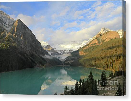 Lake Louise At Dawn Canvas Print