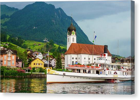 Lake Lucerne Steamer Canvas Print