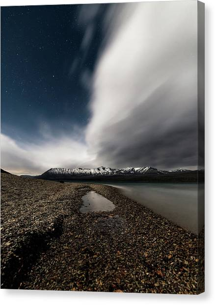 Lake Mcdonald Storm Canvas Print