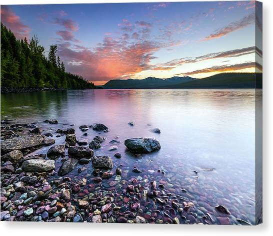 Lake Mcdonald Sunset Canvas Print