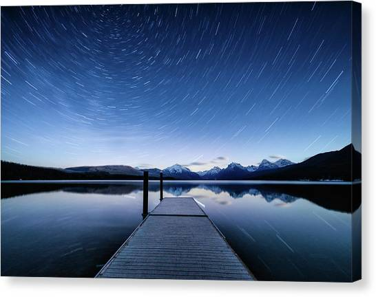 Lake Mcdonald Trails Canvas Print