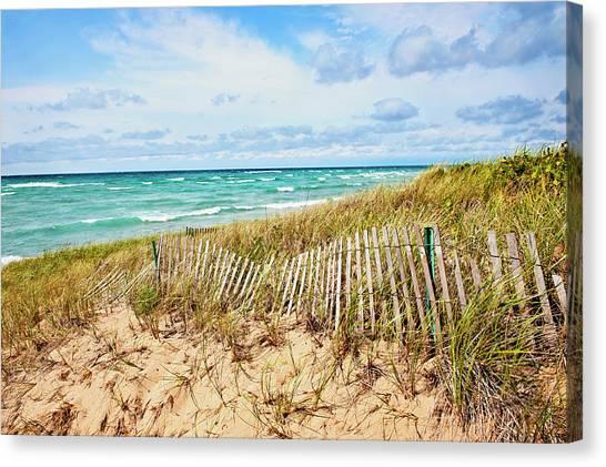 Lake Michigan Beachcombing Canvas Print