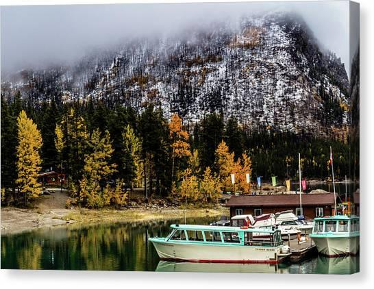 Lake Minnewanka, Banff National Park, Alberta, Canada Canvas Print