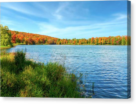 Lake Montrose Pennsylvania - Lakemontrosepennsylvania104889 Canvas Print