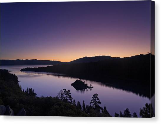 Lake Tahoe Emerald Bay Dawn Canvas Print
