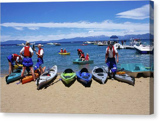 Lake Tahoe Is Host To Many Outdoor Canvas Print